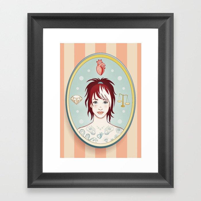 Truth, Love, Beauty Framed Art Print