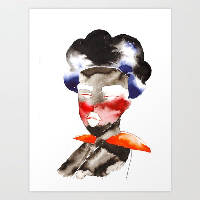 Dark Skinned Fashion Soldier Art Print