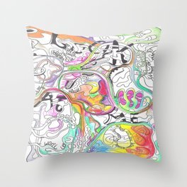 In Two Minds 2  Throw Pillow