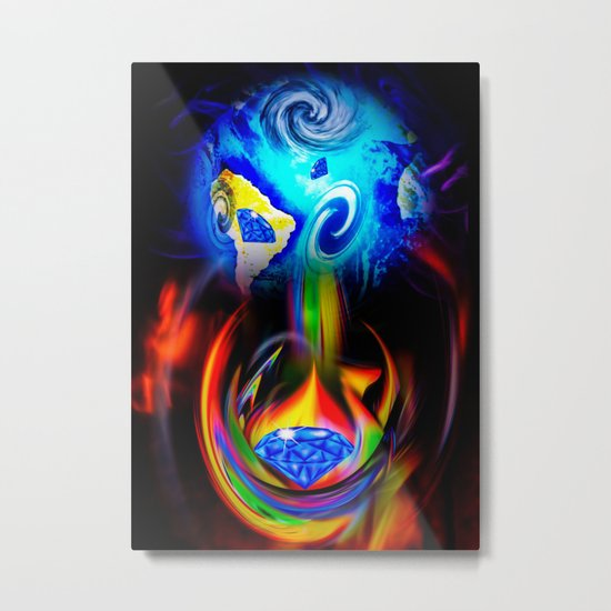 Our World Is A Magic - Is A Diamond Metal Print