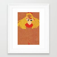 sailor venus Framed Art Prints featuring Sailor Venus by JHTY