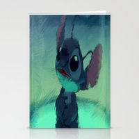 stitch Stationery Cards featuring Stitch by Princess Goldilocks