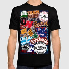 TEAM SPN Mens Fitted Tee SMALL Black