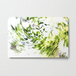 Abstract forest; intentionally blurred by twisting the camera Metal Print