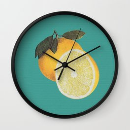 FRUITS OF THE CALIFORNIAN LOOM Wall Clock