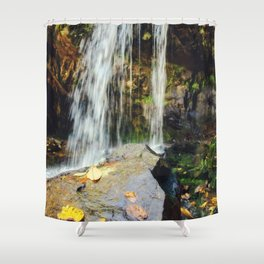 Grotto Falls Smoky Mountains Shower Curtain