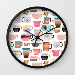 Coffee Cup Collection Wall Clock