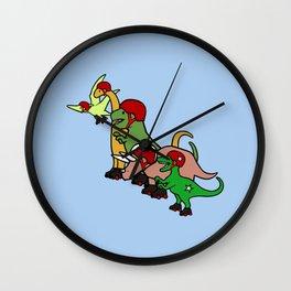 Roller Derby Dinosaurs Wall Clock