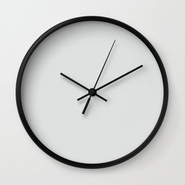 Ultra Light Gray Solid Color Pairs w/ Sherwin Williams 2020 Trending Color Rock Candy SW6231 Wall Clock