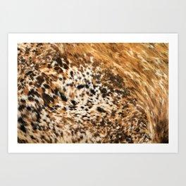 Rustic Country Western Texas Longhorn Cowhide Rodeo Animal Print Kunstdrucke