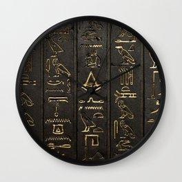 EGYPTIAN--HIERO Wall Clock