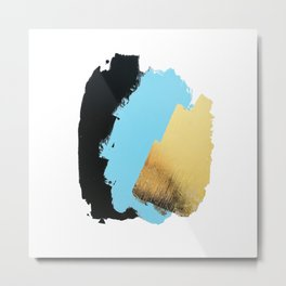 Black, Blue, Gold Metal Print