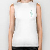 cactus Biker Tanks featuring Cactus by Emma Winton