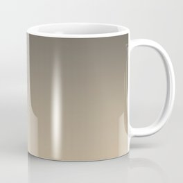 Brown and Tan Gradient Ombre Fade Blend 2021 Color of the Year Urbane Bronze and Ivoire Coffee Mug