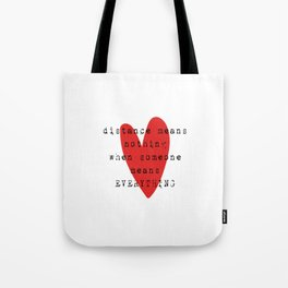 Long Distance Relationship LDR Tote Bag