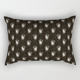 Black and White Watercolour Acorn Print Rectangular Pillow