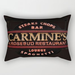 Carmine's Restaurant Neon Sign, Chicago. Rectangular Pillow