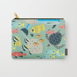 Underwater World with Coral Reef Animals Carry-All Pouch
