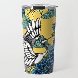 Cranes (Blue) Travel Mug