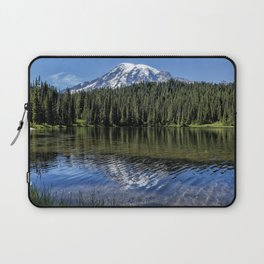 Ripples and Reflection, Mt Rainier Laptop Sleeve