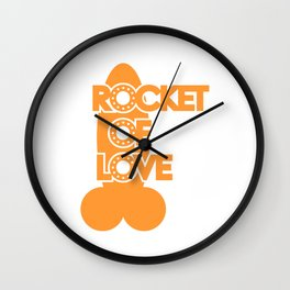 Rocket Of Love Wall Clock