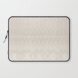 Cream and Coffee Chenille Digital Pattern Laptop Sleeve