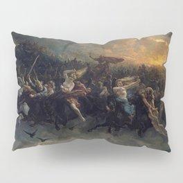 Peter Nicolai Arbo The Wild Hunt Of Odin Restored Pillow Sham