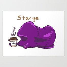 Starye the Beanbag Art Print