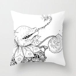 Nature bites! Throw Pillow