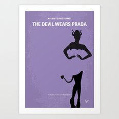 No661 My The Devil Wears minimal movie poster Art Print