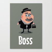 boss Canvas Prints featuring Boss by Glenn Melenhorst