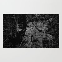 memphis Area & Throw Rugs featuring Memphis map by Line Line Lines