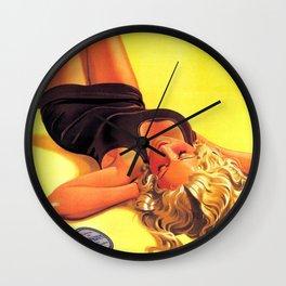 1939 Keokrem German Skincare Suntan Lotion Vintage Advertising Poster  Wall Clock