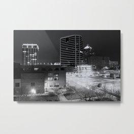 Downtown Greensboro At Night Metal Print
