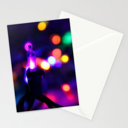 Colorful Christmas Bokeh Stationery Cards