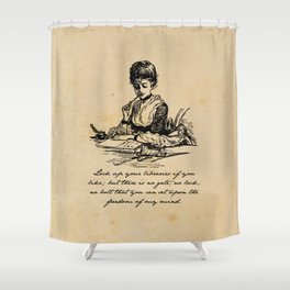 Virginia Woolf - Lock Up Your Libraries Shower Curtain