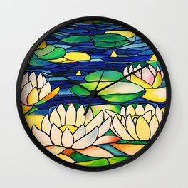 River of Lotus Blossoms Wall Clock
