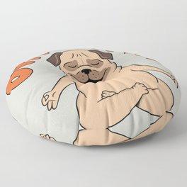 Pug Yoga Pug Dog Lover Floor Pillow