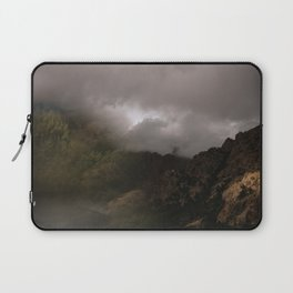 Abstract Foggy Mountaintop Laptop Sleeve