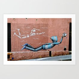 The Floating Man Art Print