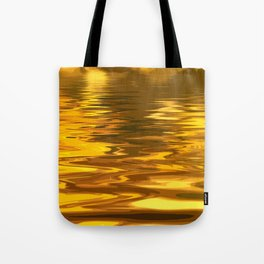 Amazing Abstract Liquid Gold Ripples Tote Bag