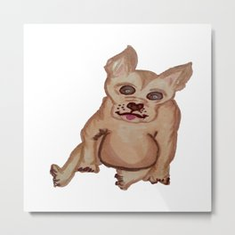 Dog with pointy ears Metal Print
