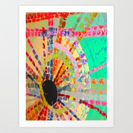 Indian Sun Matrix Art Print