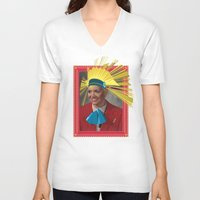 lara croft V-neck T-shirts featuring Lara by Robert Cooper