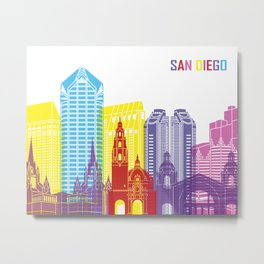 San Diego skyline pop Metal Print