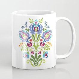 Hungarian Folk Design Violet Coffee Mug