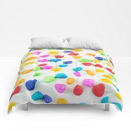 Rainbow rocks Comforters