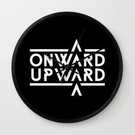 Onward Upward Wall Clock