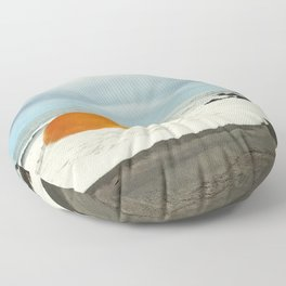 Beach Egg - Sunny side up Floor Pillow