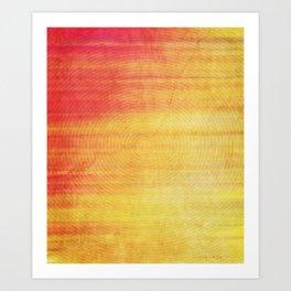Color Burst - Sunset Ring Art Print